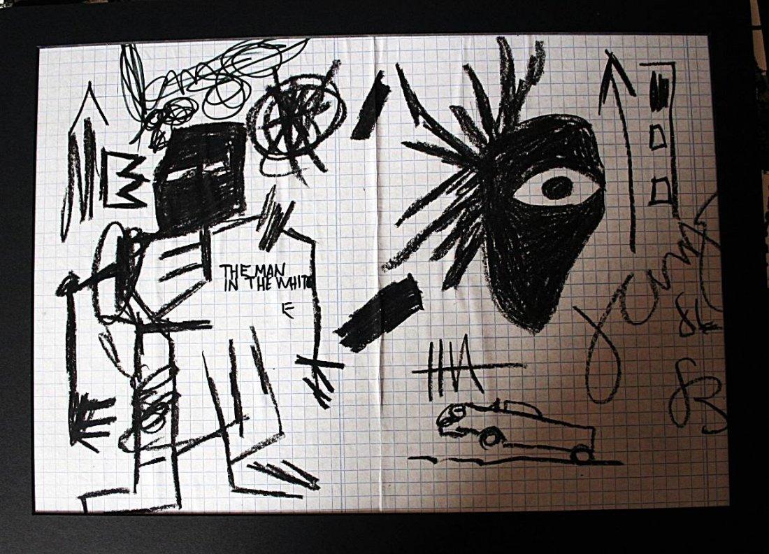 Basquiat - drawing oilstick on paper - 1986