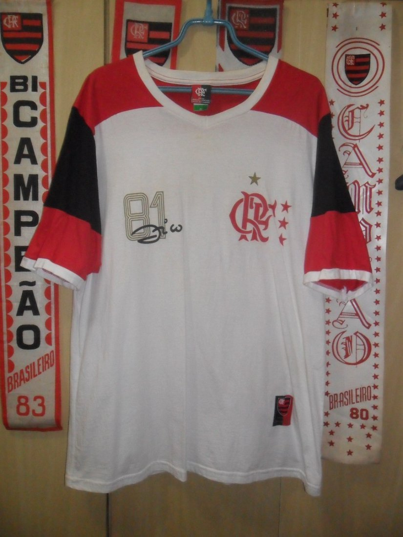 Flamengo Team shirt - 1981 - Zico - Autographed