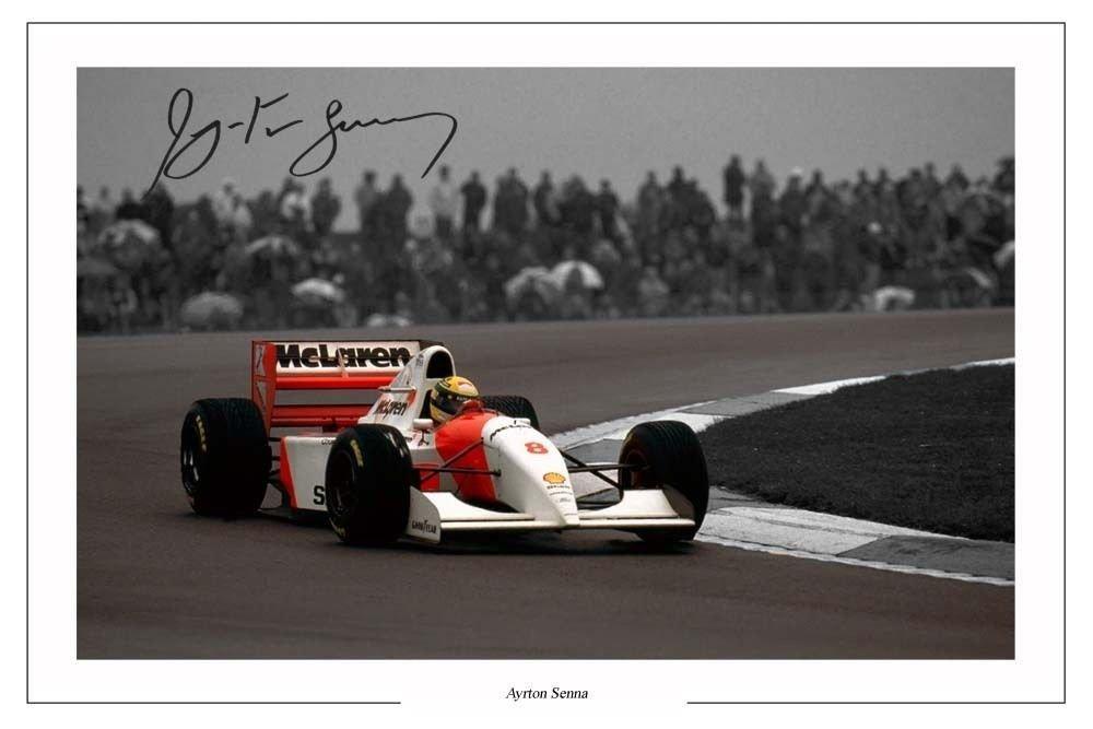 Ayrton Senna - Autographed photo - Mclaren