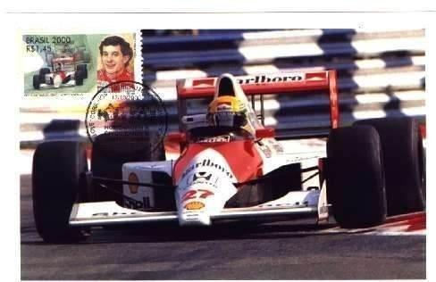 Ayrton Senna - Comemorative stamp - rare