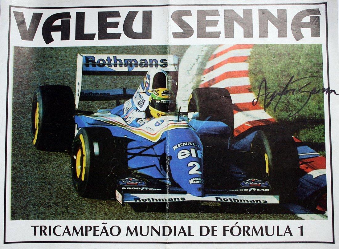 Ayrton Senna - Brazilian poster edition whit autograph