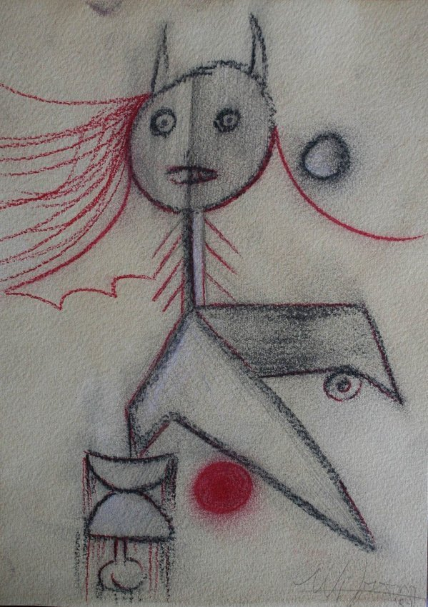 Wifredo Lam - Drawing on paper