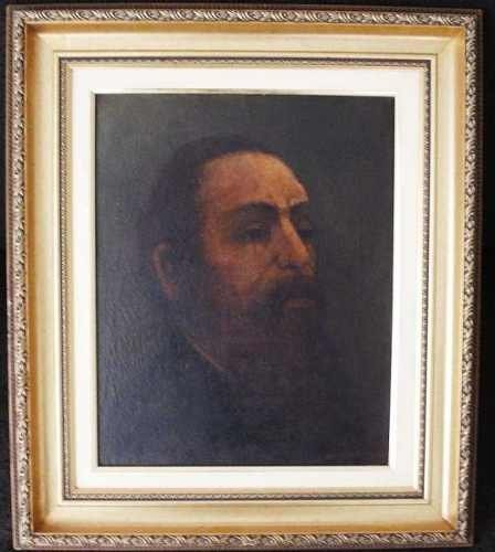 European School - Rabbi Portrait - Oil on canvas -
