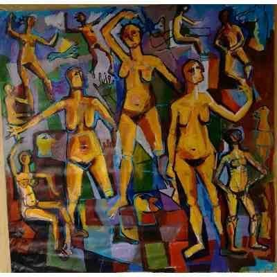 German paint - Modern Art - Unsigned - 1954