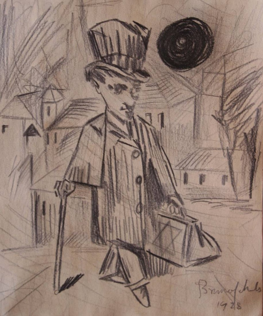 Bruno Schulz - Drawing on paper - 1928
