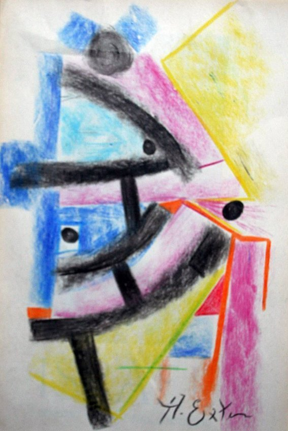Alexandra Exter - drawing on paper - Russin School