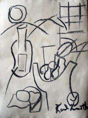 Karl Knaths - drawing on paper