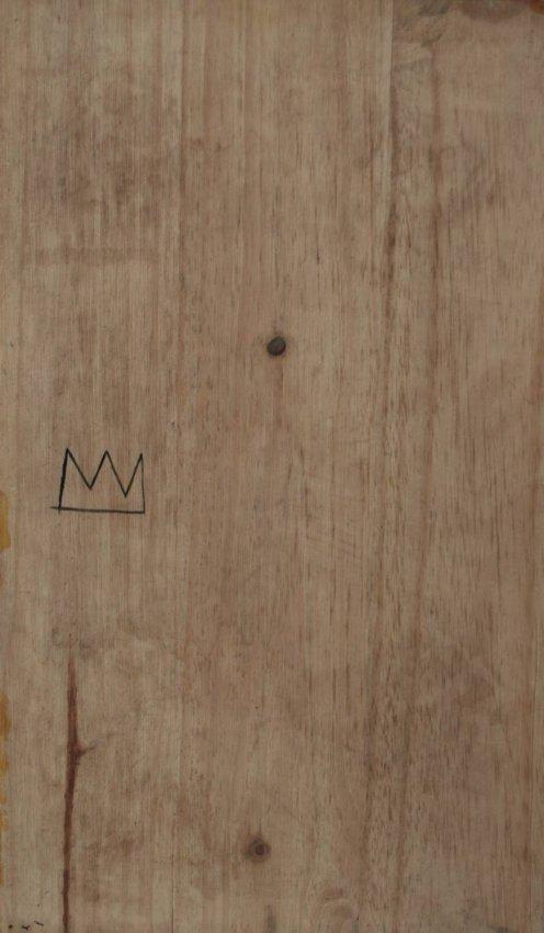 Jean Michel Basquiat - Paint on wood -  1985 - 2