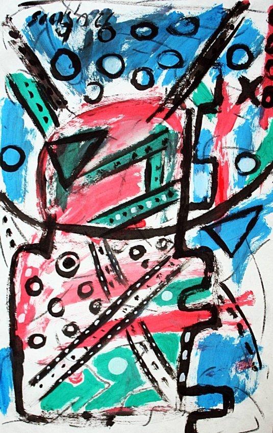 Francis Newton Souza - Oil on paper - 51 x 34cm