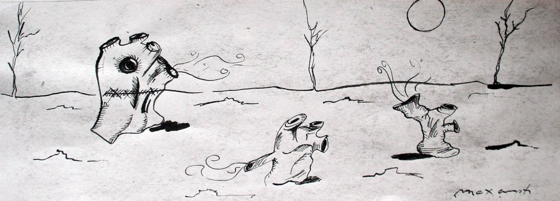 Max Ernst - Drawing on paper