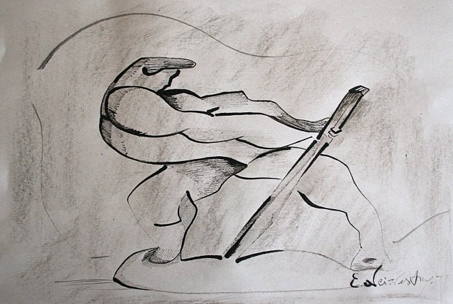 Ernst Neizvestny - drawing on paper