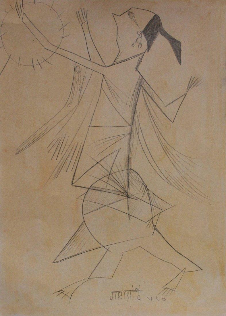 Vasudeo Gaitonde - drawing on paper