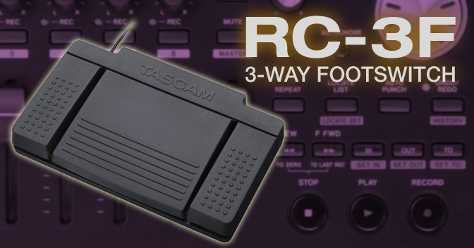 Tascam 3-way Footswitch for the GB-10, LR-10, DP-03, DR