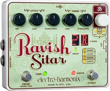 Electro-Harmonix Ravish Sitar Emulation Effect Pedal
