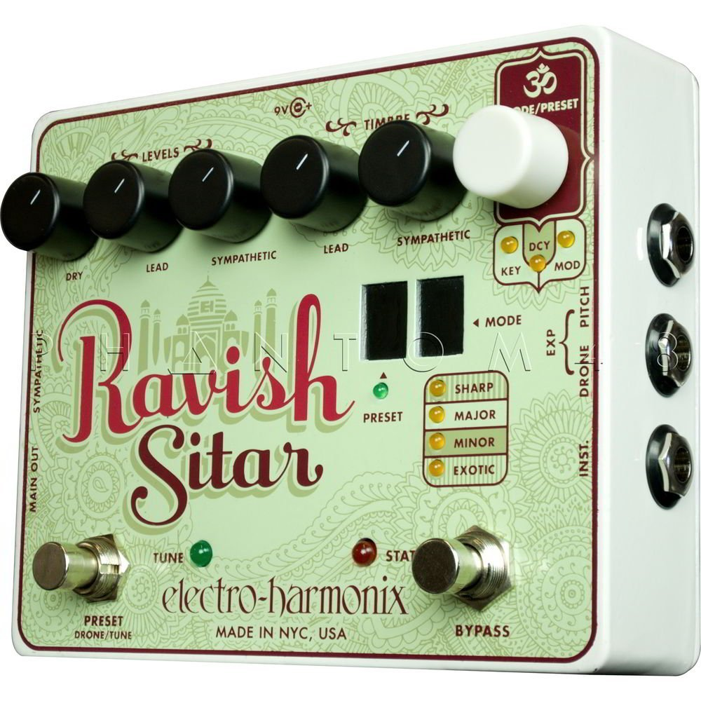 Electro-Harmonix Ravish Sitar Emulation Effect Pedal - 2
