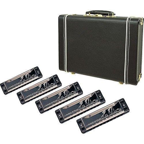 Lee Oskar Harmonica 5-Pack with Hardshell Case