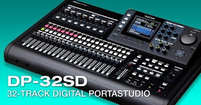 Tascam DP‑32SD Digital 32‑Track Portastudio