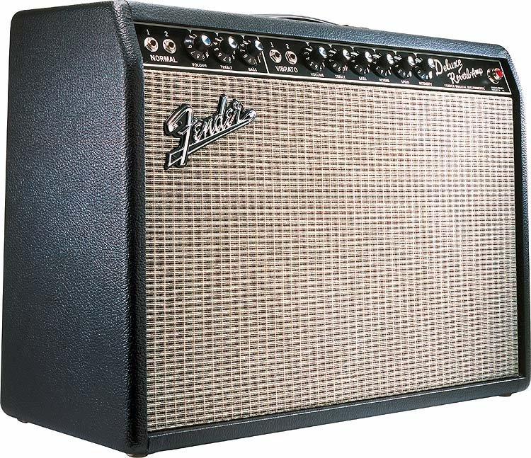 "Fender \'65 Deluxe Reverb - 22W 1x12\"" Guitar Combo - 2"