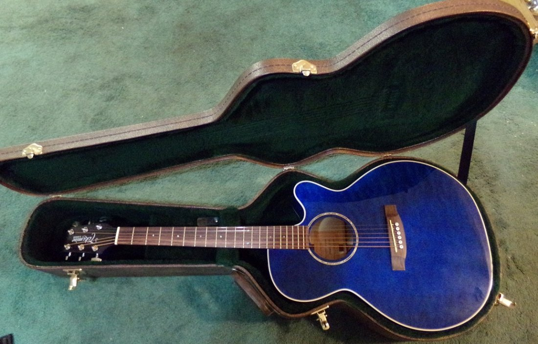 Gloss Blue Takamine EG440C-STBQ Electric Acoustic