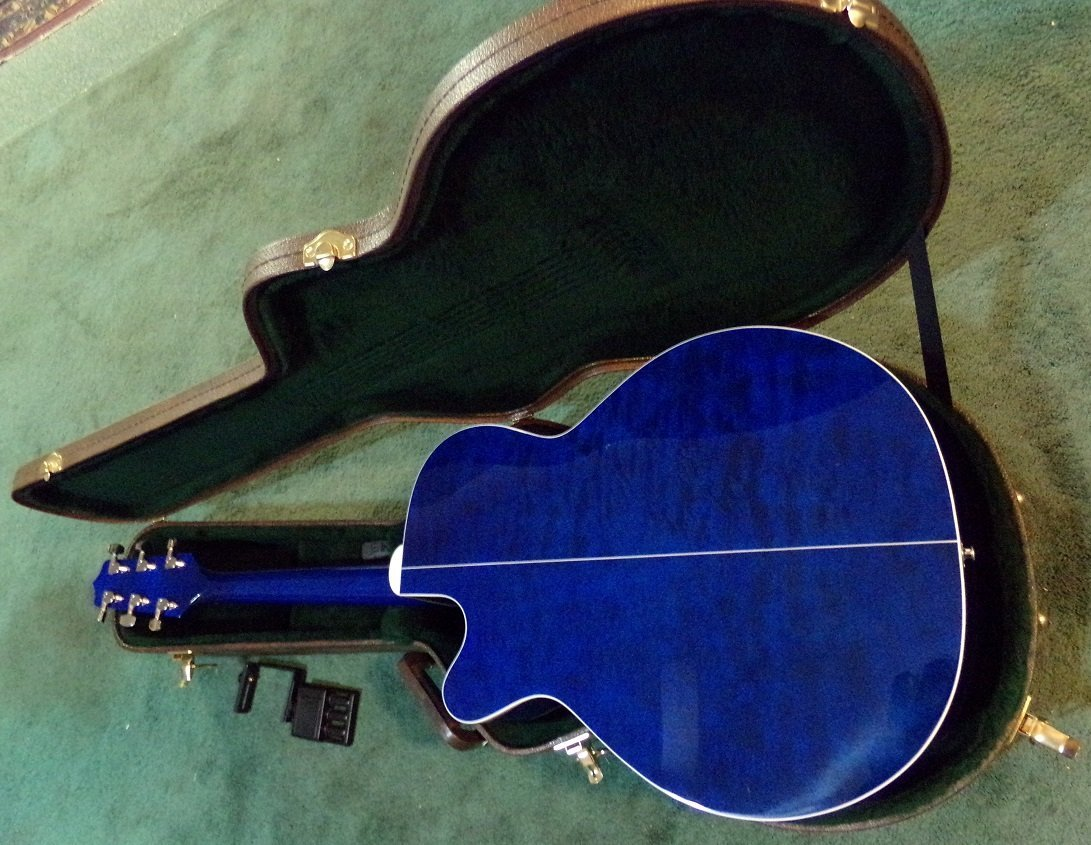Gloss Blue Takamine EG440C-STBQ Electric Acoustic - 2
