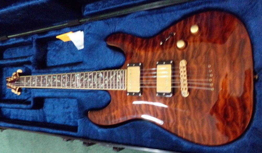 Schecter C-1 Classic Antique Amber, Vine of Life Inlay - 2