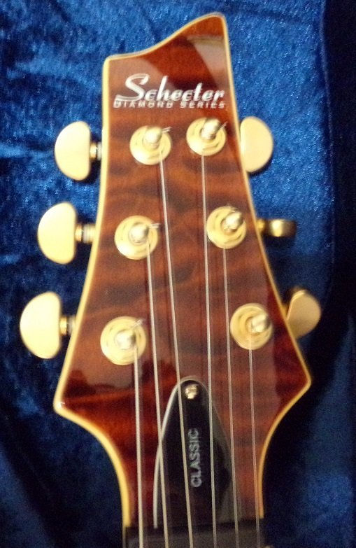 Schecter C-1 Classic Antique Amber, Vine of Life Inlay - 6