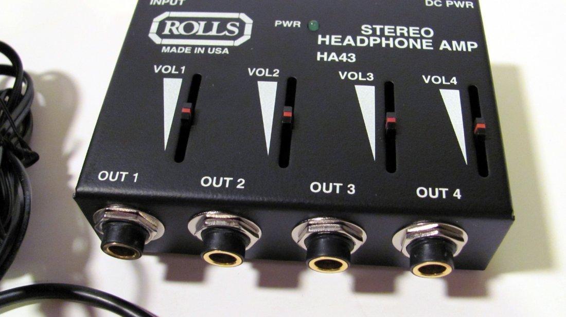 Rolls HA43 Pro Stereo Headphone Amplifier
