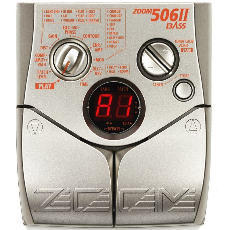 Zoom pedal 506 II Bass  Effects Database
