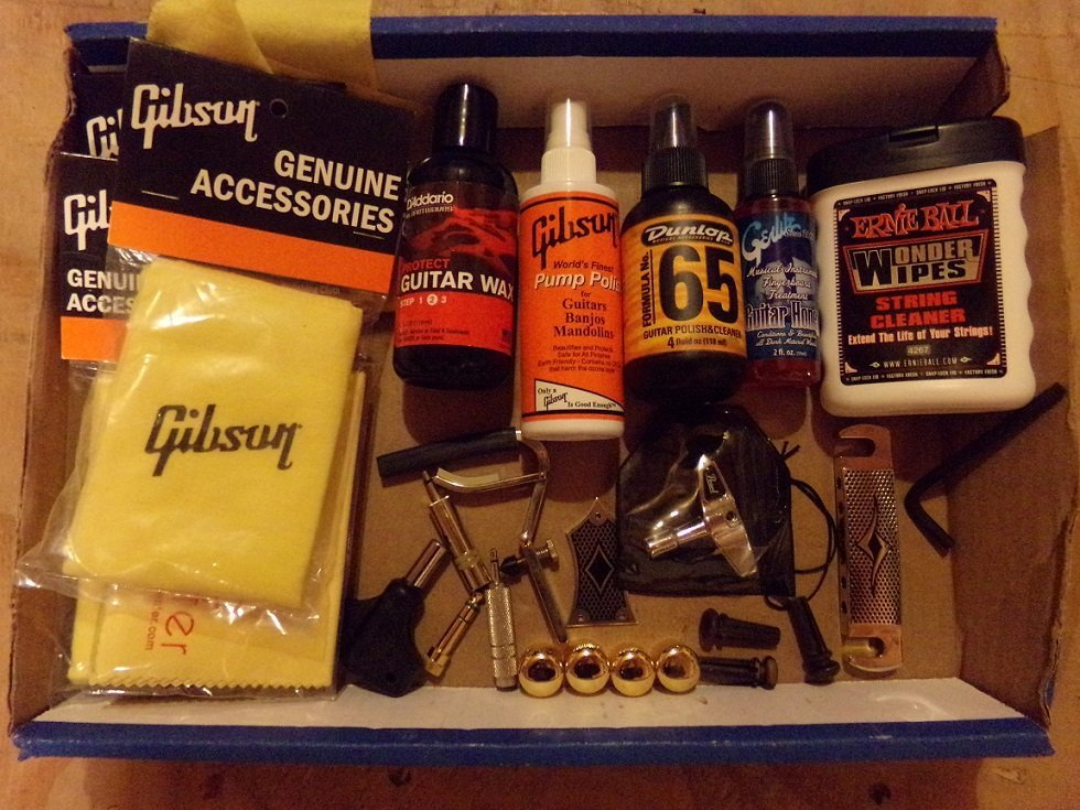 Lot of Guitar Accessories Parts, Cleaners, Wipes ETC.
