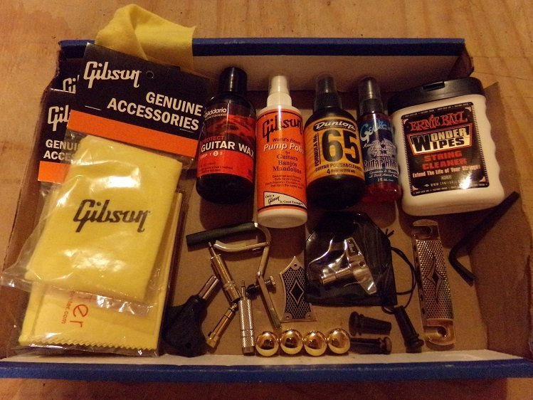Lot of Guitar Accessories Parts, Cleaners, Wipes ETC. - 2