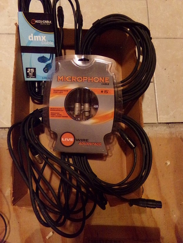 Lot of Cables: DMX , Livewire Microphone Cable  ETC.