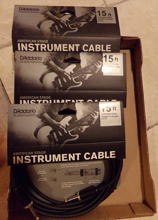 Lot of 3  Planet Waves American Stage Cables 15 ft NEW