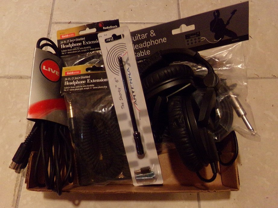 Headphones and Extension Cables Lot Both New and Used