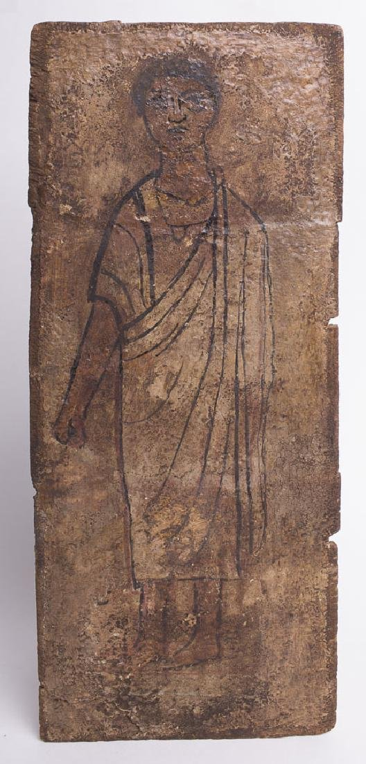 Ancient Egyptian Painted Wood Panel c.2nd century AD.