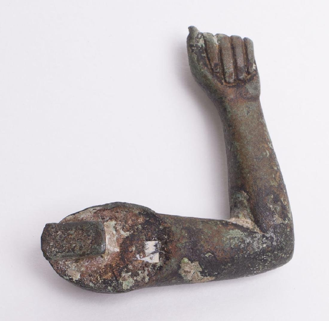 Ancient Egyptian Bronze Arm Late Period c.600 BC.