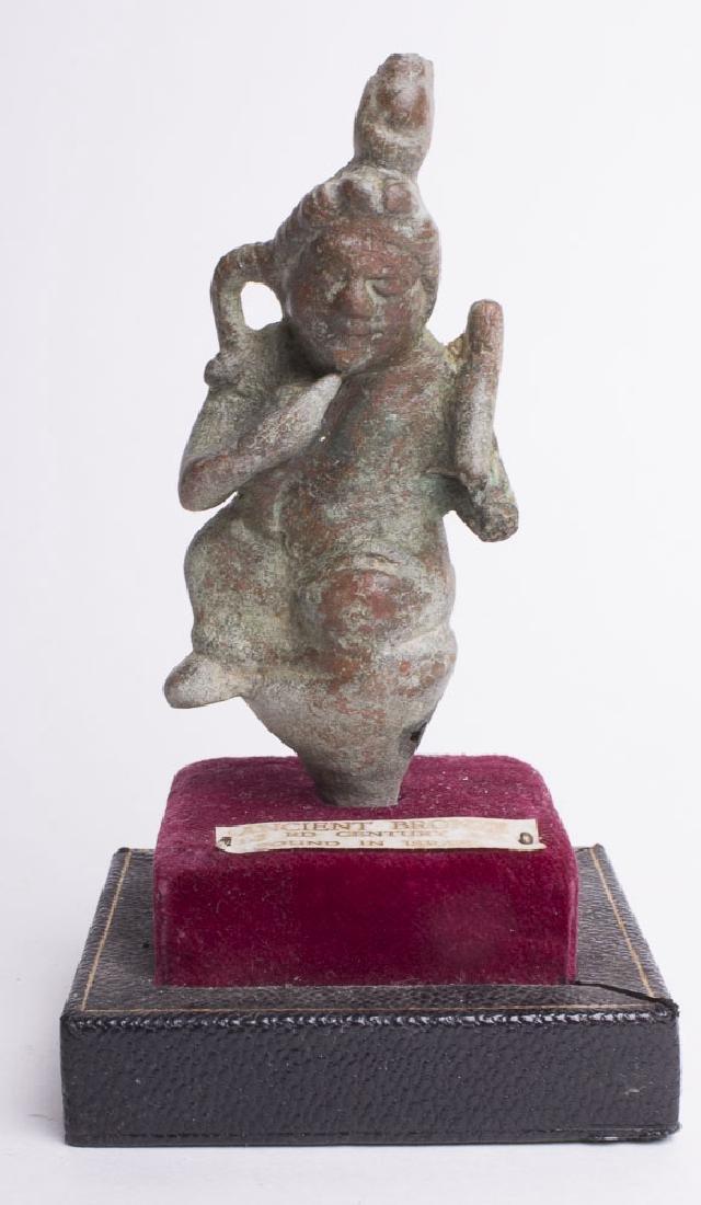 Ancient Egyptian Bronze Harpocrates Figure c.600 BC