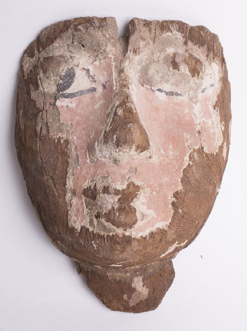 Ancient Egyptian Wood Mask THIRD INTERMEDIATE PERIOD,