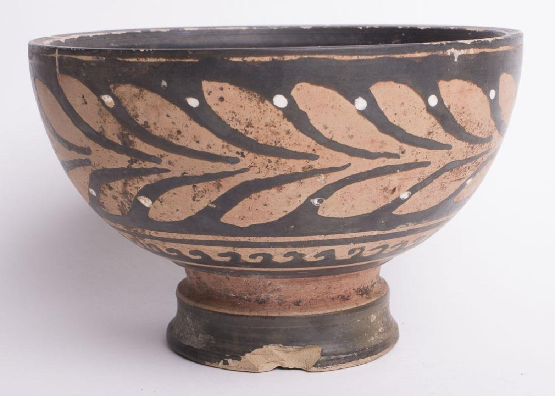 Ancient Apulian Pottery Footed Bowl c.350 BC