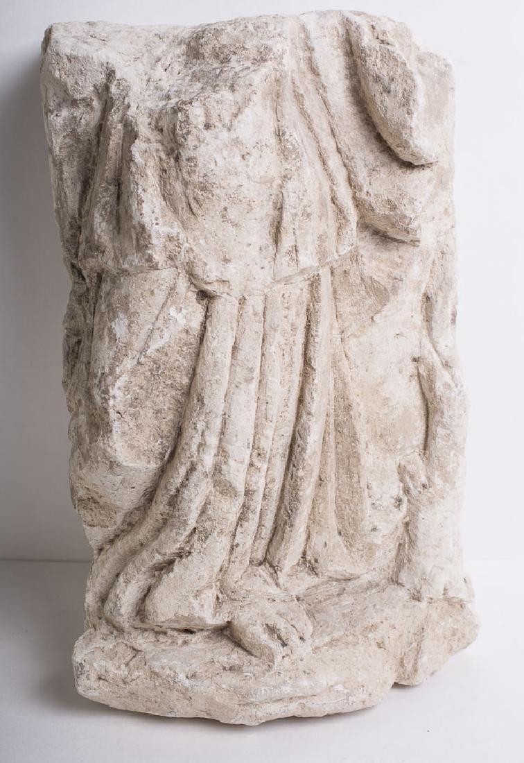 Ancient Roman Limestone Statue Fragment c.1st cent AD