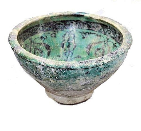 Large Ancient ISLAMIC POTTERY BOWL, SULTANABAD, C.1000