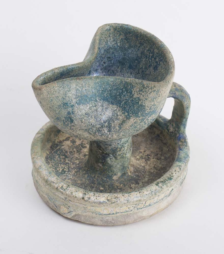 Ancient Islamic Persian Ceramic Oil Lamp c.13th century