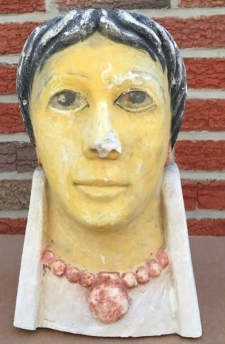 Egyptian Roman Style plaster head of a woman