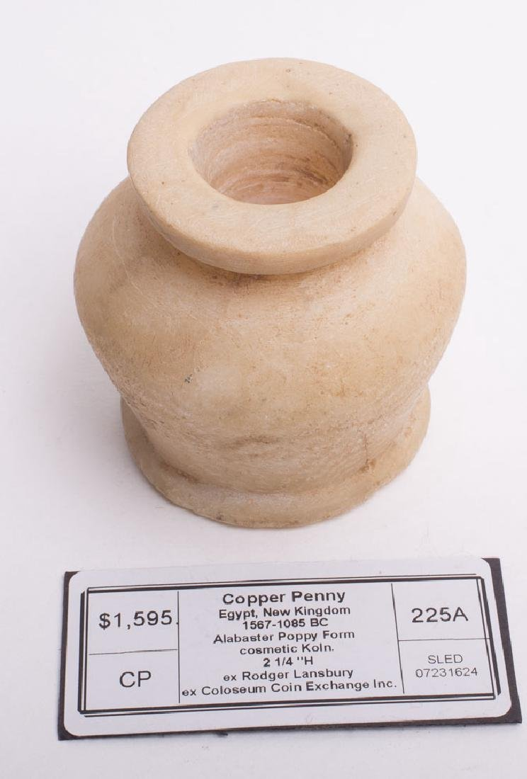 Ancient Egyptian Alabaster Cosmetic container c.1567 BC