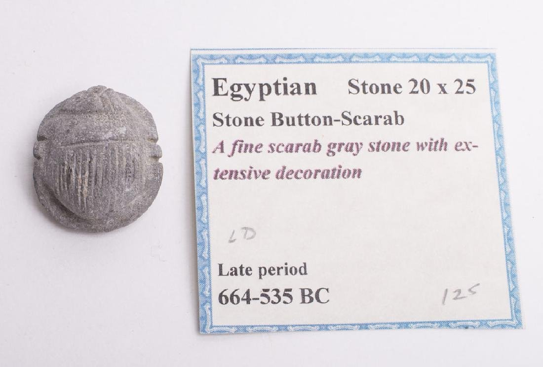 Ancient Egyptian Stone Scarab Late Period c.664 BC