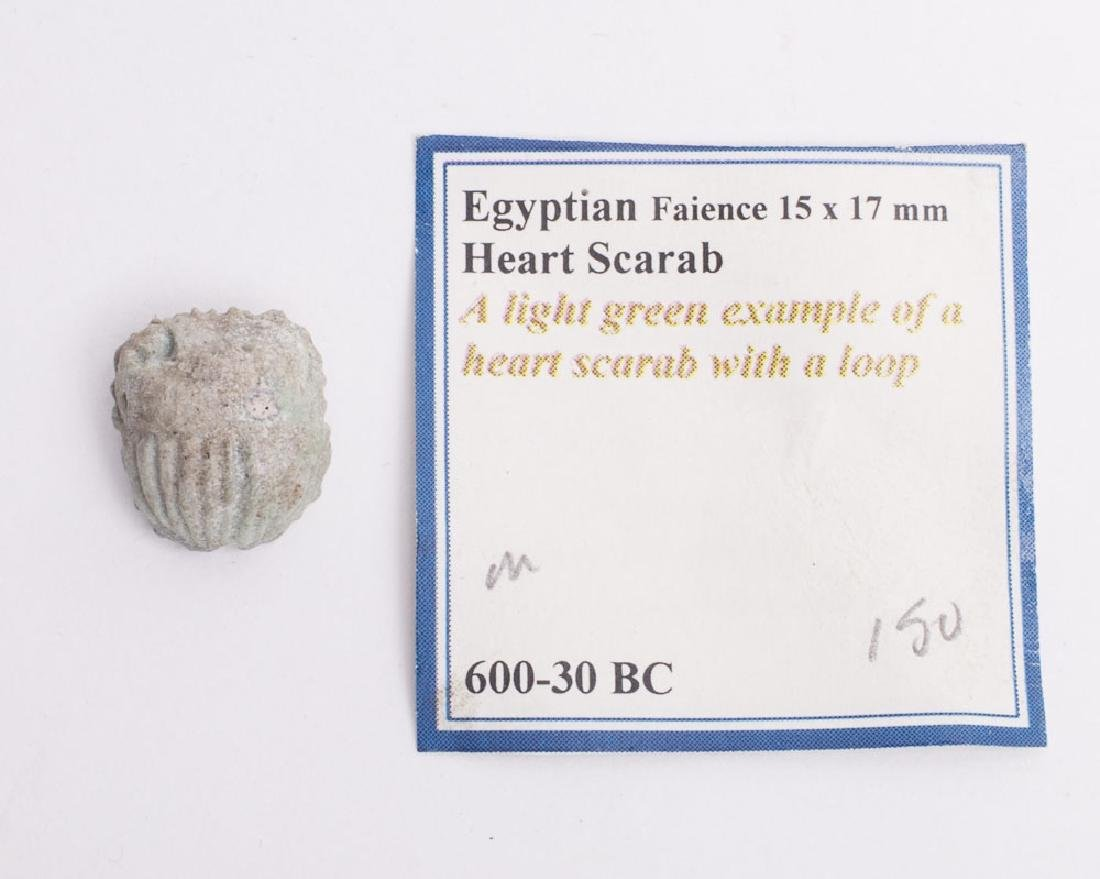 Ancient Egyptian Faience Scarab Late Period c.600 BC