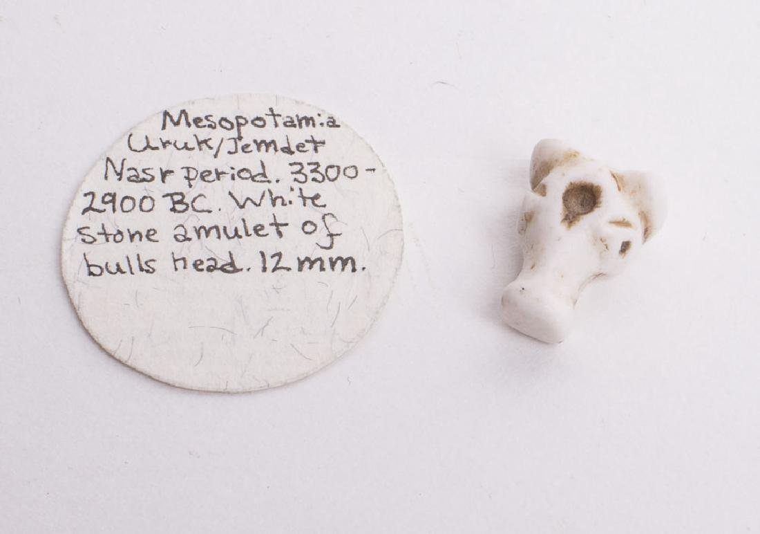 Ancient Mesopotamian Jamdit Nasr Stone Bull Amulet c.60