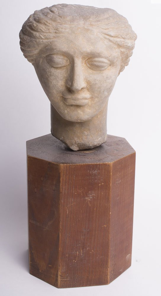 Large Roman Style Marble head of a Woman.