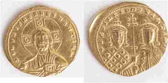 CONSTANTINE VII and ROMANUS II. 945 AD. AV Solidus