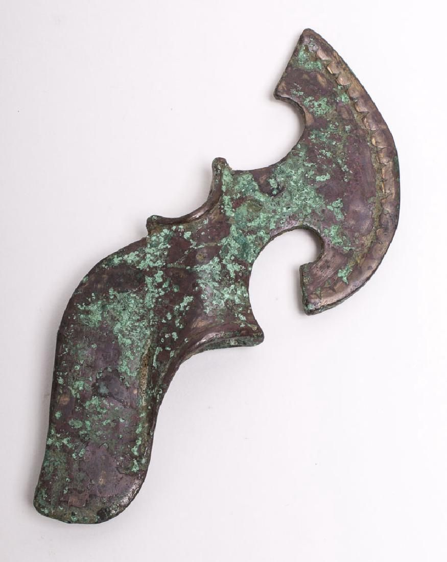 Ancient Luristan Bronze Axe head c.1000 BC.