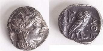 Ancient ATTICA Athens Circa 454404 BCAR Tetradrachm